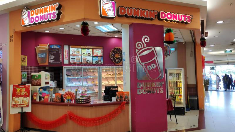 Dunkin` Donuts Retail shop in Johor Bahru royalty free stock image