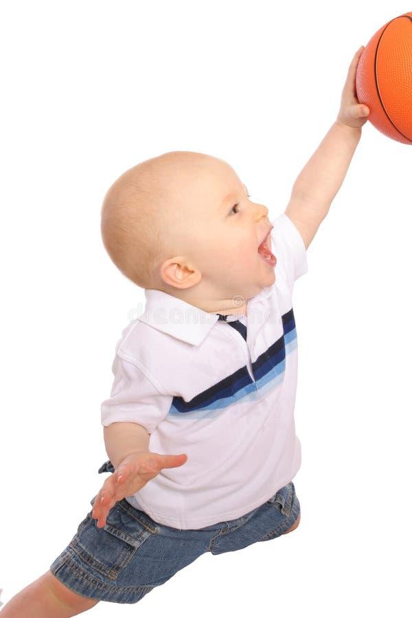 Dunking del bambino fotografie stock libere da diritti