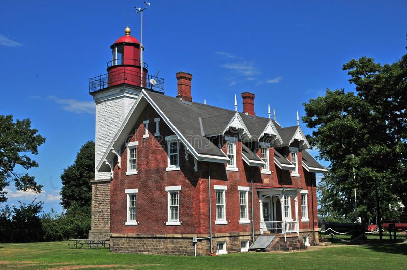 Dunkirk Light. Image of the lighthouse at Dunkirk New York royalty free stock photos