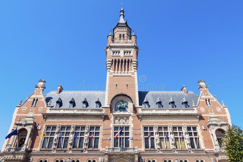Dunkirkstadhuis royalty-vrije stock foto's
