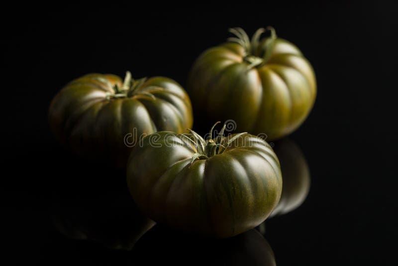Dunkle brandywine Tomaten lizenzfreies stockfoto