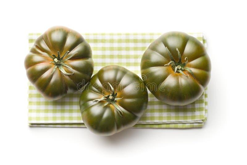 Dunkle brandywine Tomaten stockbild