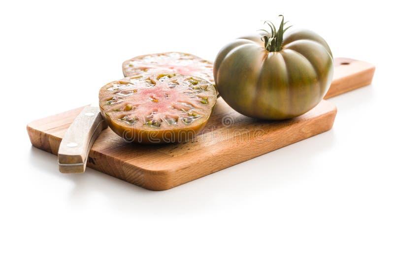 Dunkle brandywine Tomaten lizenzfreies stockbild