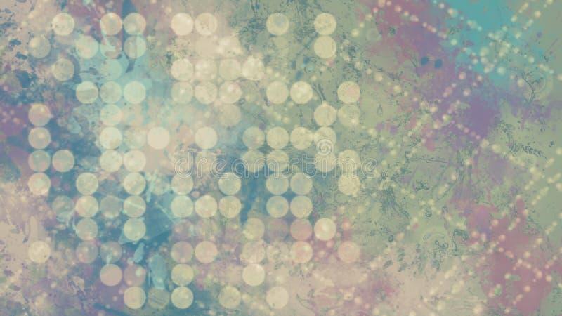 Dunkle digitale abstrakte Tapete mit bokeh vektor abbildung