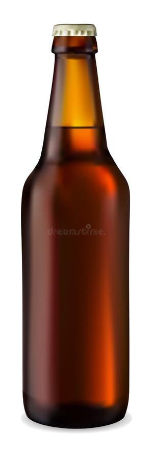 Dunkle Flasche Bier lizenzfreie abbildung