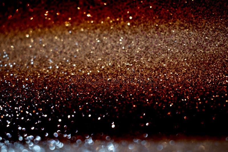 Dunkle Funkelnweinlese beleuchtet Hintergrund defocused lizenzfreie stockfotografie