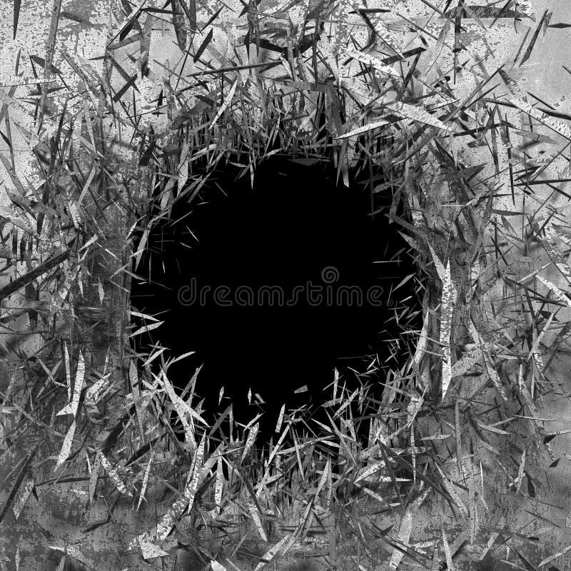 Dunkle gebrochene gebrochene Wand in der Betonmauer Kann als Postkarte verwendet werden lizenzfreie stockbilder