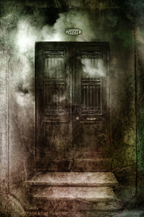 Dunkle gotische Türen lizenzfreie stockbilder