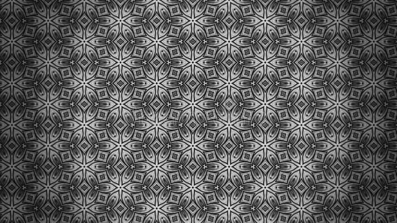 Dunkle Gray Decorative Floral Pattern Background-Schablone lizenzfreie abbildung