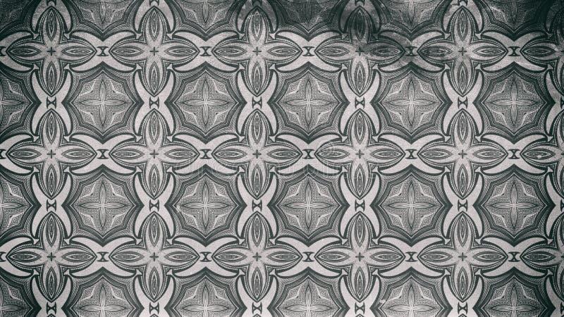 Dunkle Grey Vintage Floral Pattern Background-Grafik-schöne elegante Illustration lizenzfreie abbildung