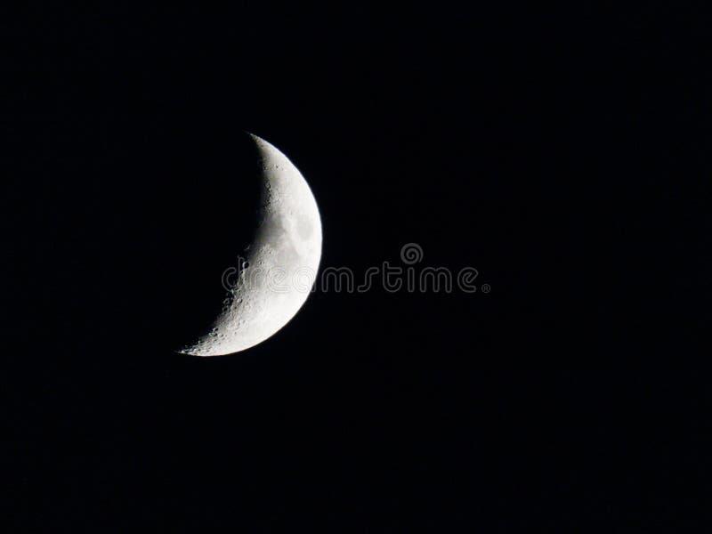 Dunkle Nacht belichtet durch den Mond lizenzfreies stockfoto