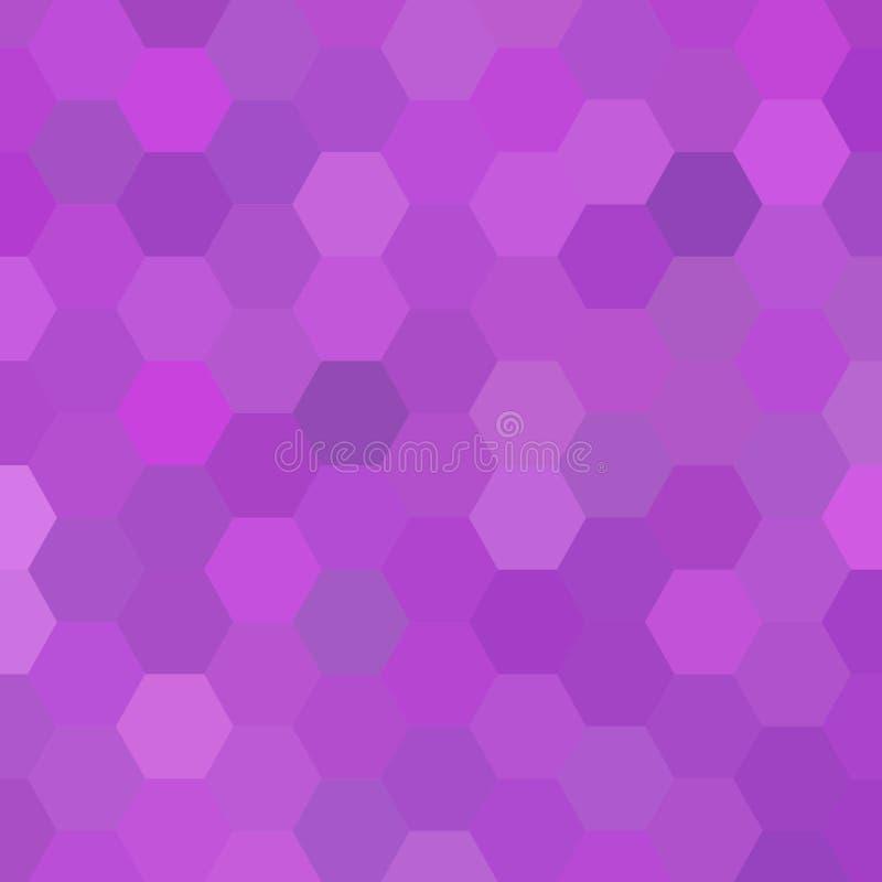 Dunkle purpurrote Vektorschablone in der sechseckigen Art Entwurf in der abstrakten Art mit Hexagonen Muster kann f?r die Landung vektor abbildung