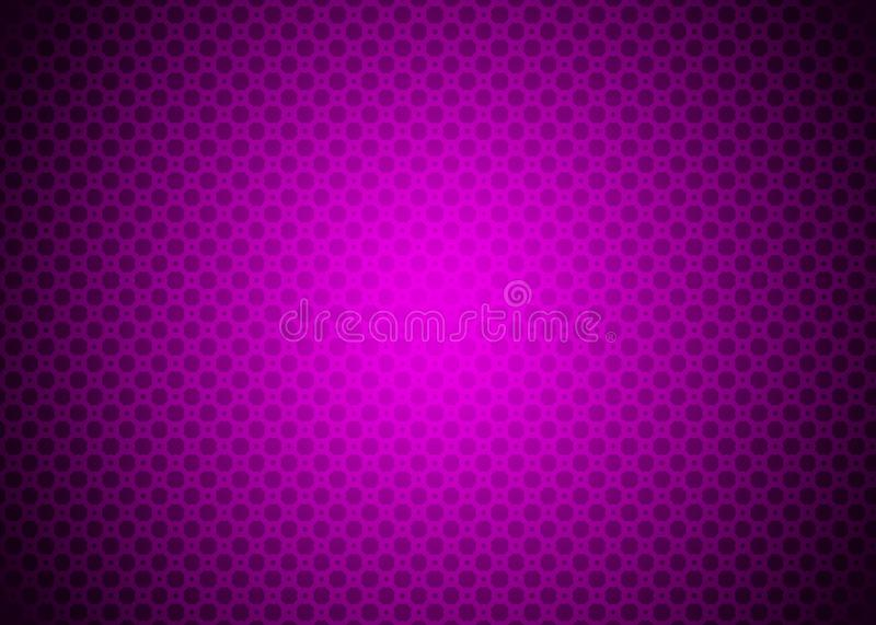 Dunkle purpurrote Violet Techno Ornamental Pattern Background-Tapete vektor abbildung