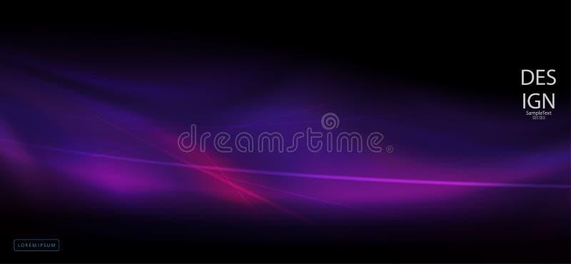 Dunkle purpurrote Zusammensetzung gezeichnet als Angelegenheit mit einem Satz dünnen Linien vektor abbildung