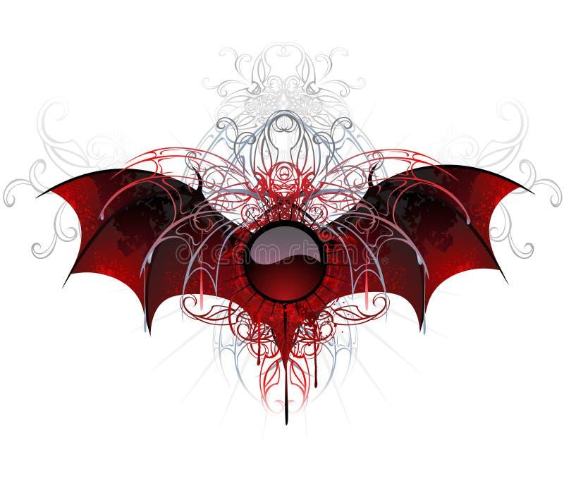 Dunkle Vampirfahne auf einem weißen Hintergrund stock abbildung