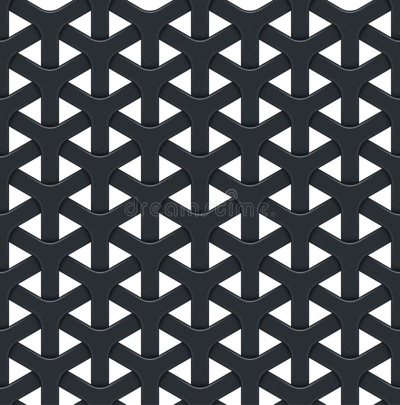 Dunkler abstrakter Vektorhintergrund mit einem Metallgitter stock abbildung