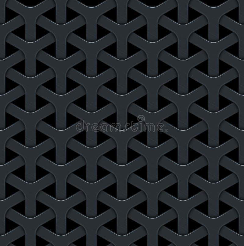 Dunkler abstrakter Vektorhintergrund mit einem Metallgitter lizenzfreie abbildung
