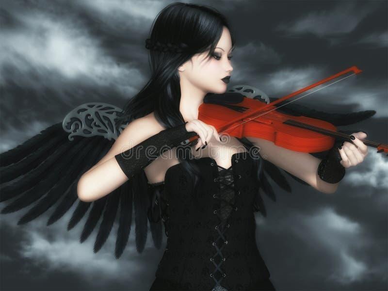 Dunkler Angel Music vektor abbildung