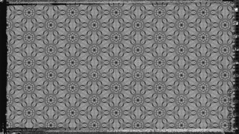 Dunkler eleganter Hintergrund Entwurf der grafischen Kunst Illustration Grey Floral Pattern Background Beautifuls vektor abbildung