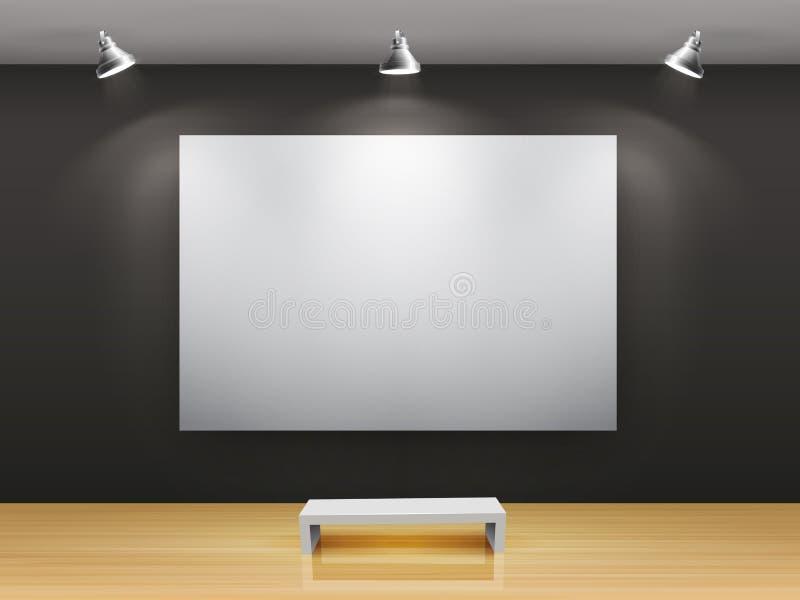 Dunkler Galerie Innenraum lizenzfreie abbildung