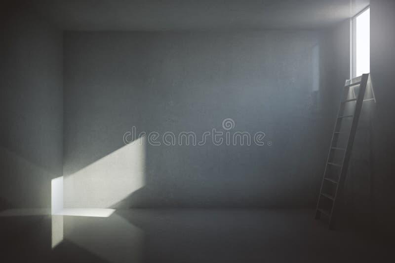 Dunkler Gefängniszellinnenraum vektor abbildung