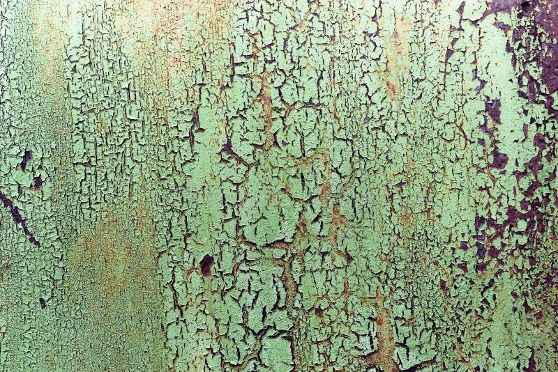Dunkler getragener rostiger Metallbeschaffenheitshintergrund Alte Schalenfarbe auf einem Metallhintergrund lizenzfreies stockfoto