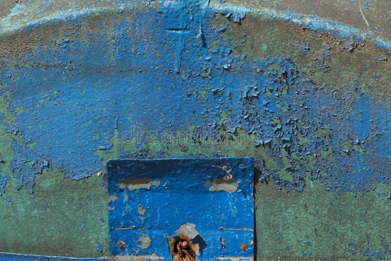 Dunkler getragener rostiger Metallbeschaffenheitshintergrund stockbilder