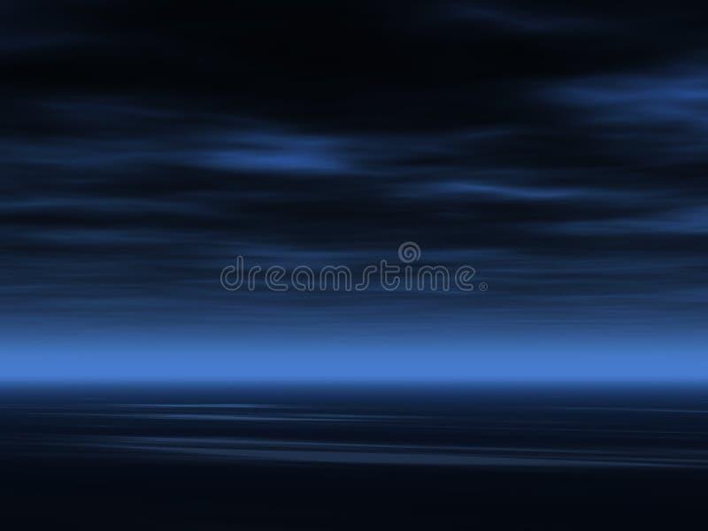 Dunkler Himmelhintergrund lizenzfreie abbildung
