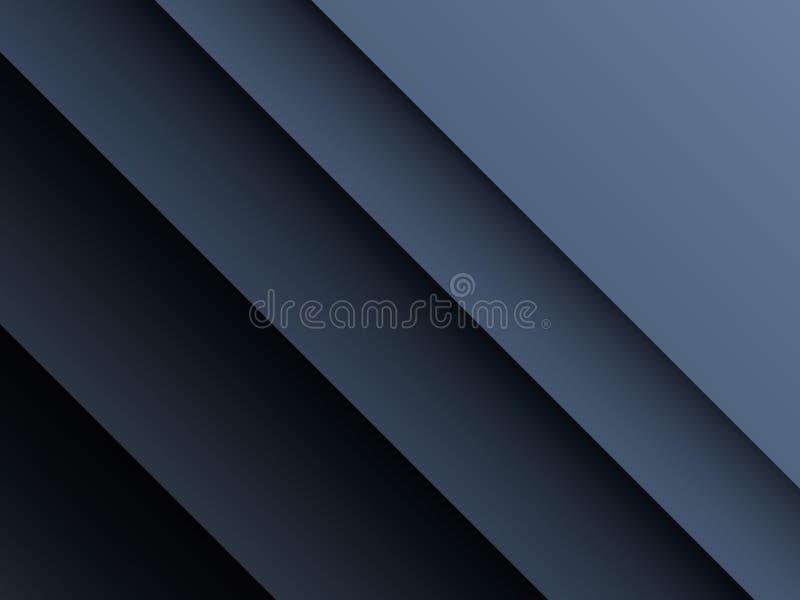Dunkler, metallischer Papierschnittschicht-Vektorhintergrund Firmenkundengeschäfthintergrund mit tiefen Schatten und dunklen Farb lizenzfreie abbildung