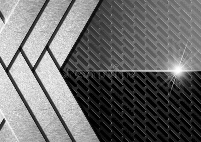 Dunkler Metallzusammenfassungs-Hintergrund lizenzfreie abbildung