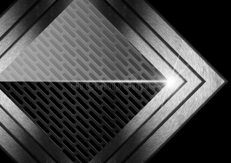 Dunkler Metallzusammenfassungs-Hintergrund mit Pfeilen lizenzfreie abbildung