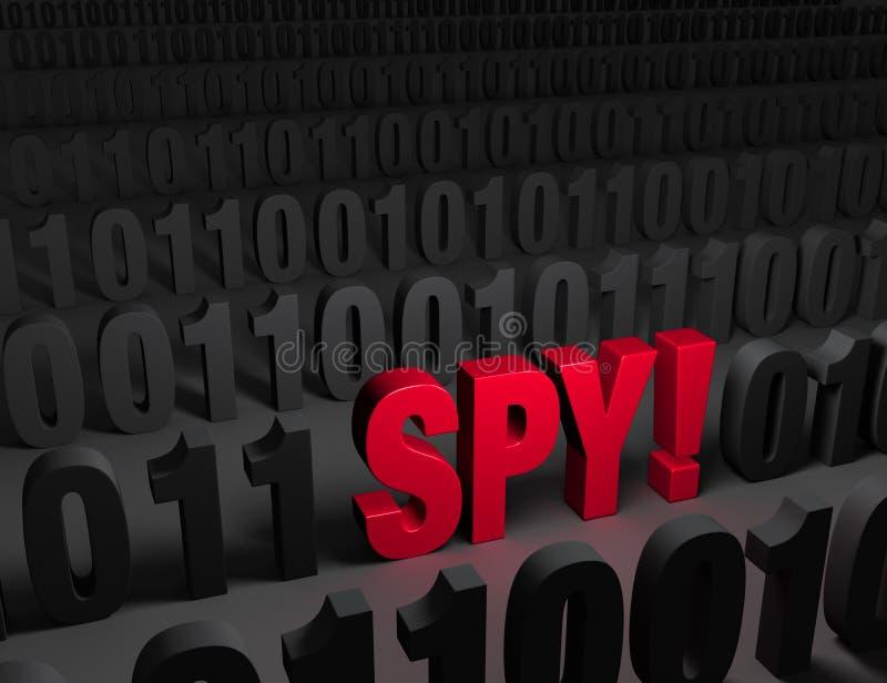 Dunkler Netz Cyber-Spion! lizenzfreie abbildung