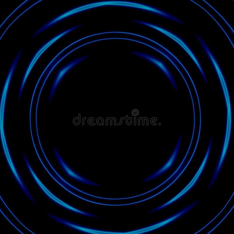 Dunkler psychedelischer Raumtunnel Vektorbild, Abbildung Abstrakte Abbildung Runde Form Zukunftsromanphantasie Stilisiertes Bild vektor abbildung