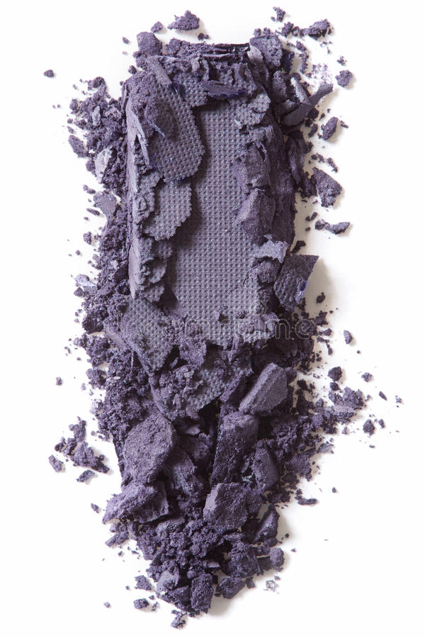Dunkler purpurroter Lidschatten zerquetscht auf Weiß lizenzfreies stockfoto