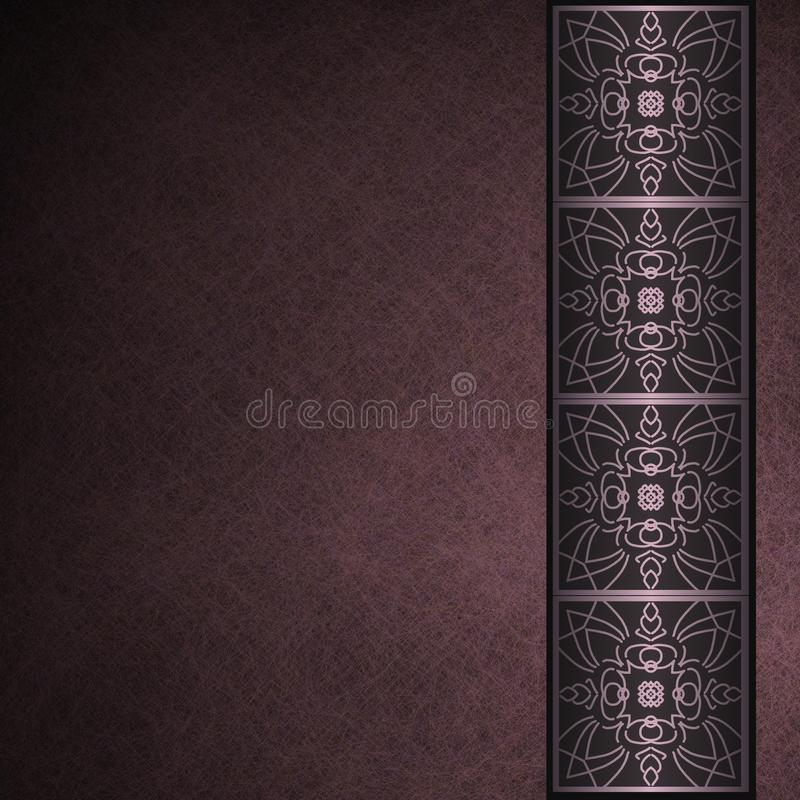 Dunkler purpurroter Pergamenthintergrund mit Rand vektor abbildung