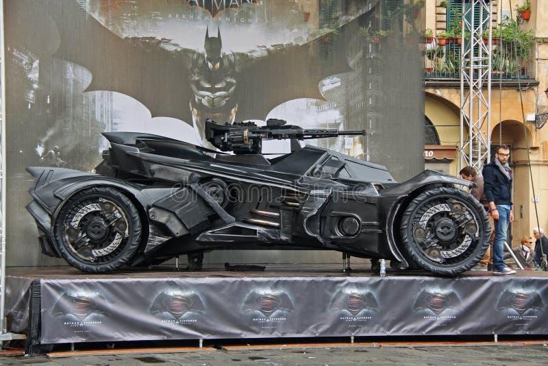 Dunkler Ritter Batmobile stockbilder