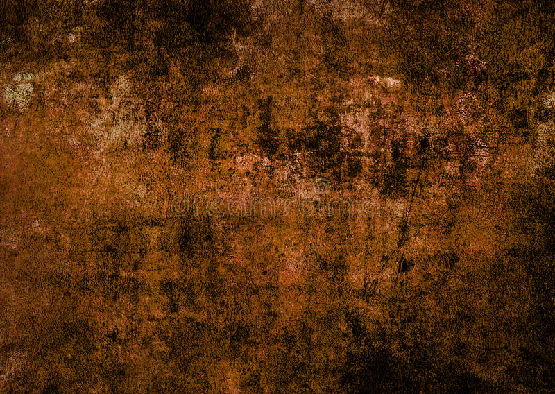 Dunkler ruinierter verkratzter Beschaffenheits-Hintergrund Autumn Wall Texture Brown Abstracts Schmutz stockfoto