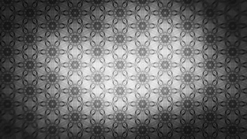 Dunkler schöner eleganter Hintergrund Entwurf der grafischen Kunst Illustration Gray Floral Pattern Background Images lizenzfreie abbildung