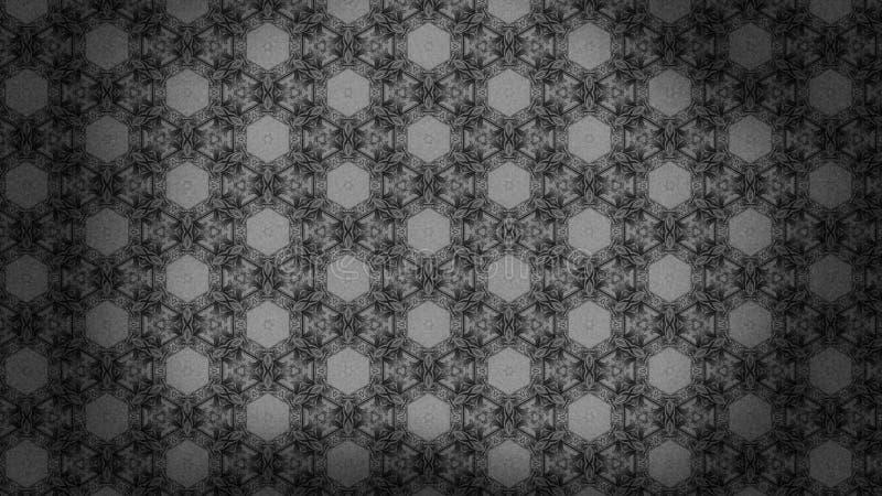 Dunkler schöner eleganter Hintergrund Entwurf der grafischen Kunst Illustration Gray Vintage Floral Background Patterns stock abbildung