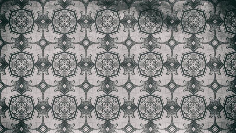 Dunkler schöner eleganter Hintergrund Entwurf der grafischen Kunst Illustration Gray Vintage Floral Pattern Backgrounds vektor abbildung