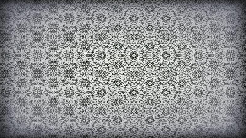 Dunkler schöner eleganter Hintergrund Entwurf der grafischen Kunst Illustration Gray Vintage Floral Wallpaper Patterns vektor abbildung