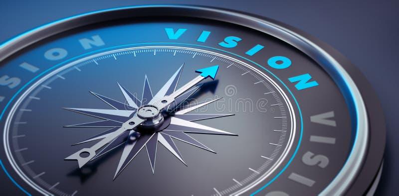 Dunkler stilvoller Kompass - Konzeptvision stock abbildung