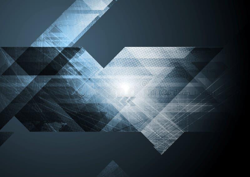Dunkler Technologie-Auszugs-Hintergrund lizenzfreie abbildung