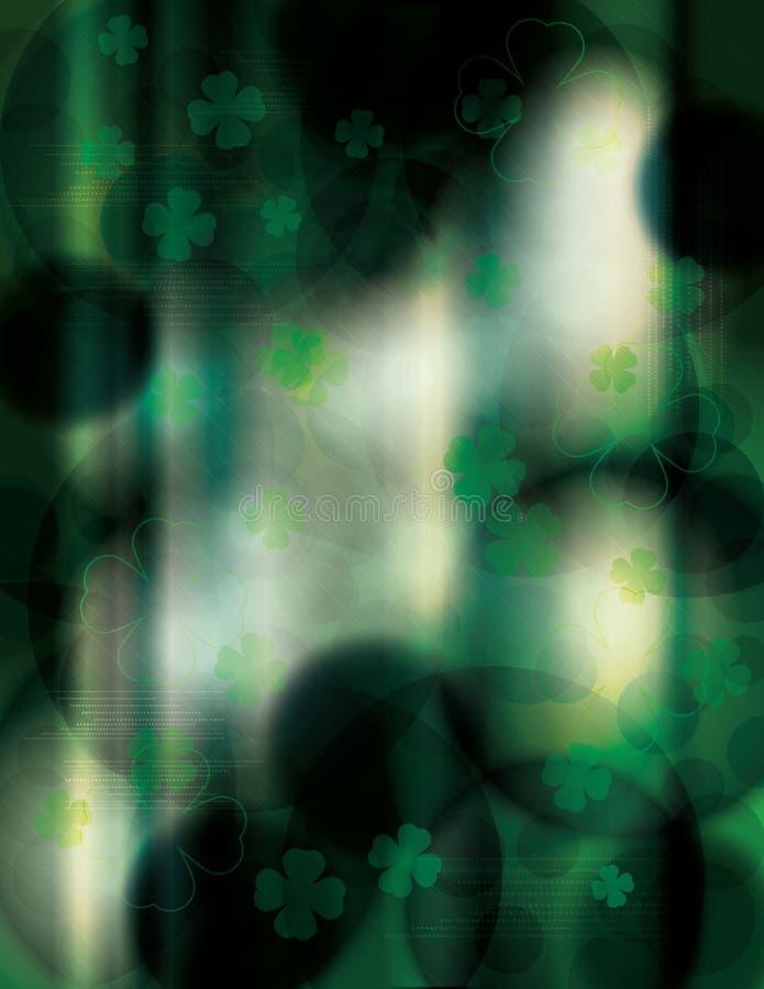 Dunkler und einzigartiger Hintergrund St. Patricks Tages vektor abbildung