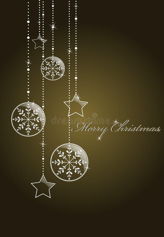 Dunkler Weihnachtshintergrund stock abbildung