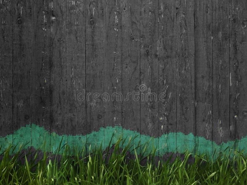 Dunkler Zaun für Ihre Anzeige lizenzfreies stockfoto
