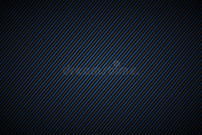 Dunkles abstraktes Hintergrund-, Blaues und Grauesgestreiftes Muster stock abbildung