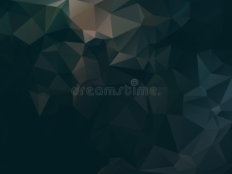 Dunkles abstraktes Hintergrundpolygon vektor abbildung