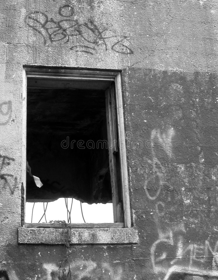 Dunkles Fenster stockfoto