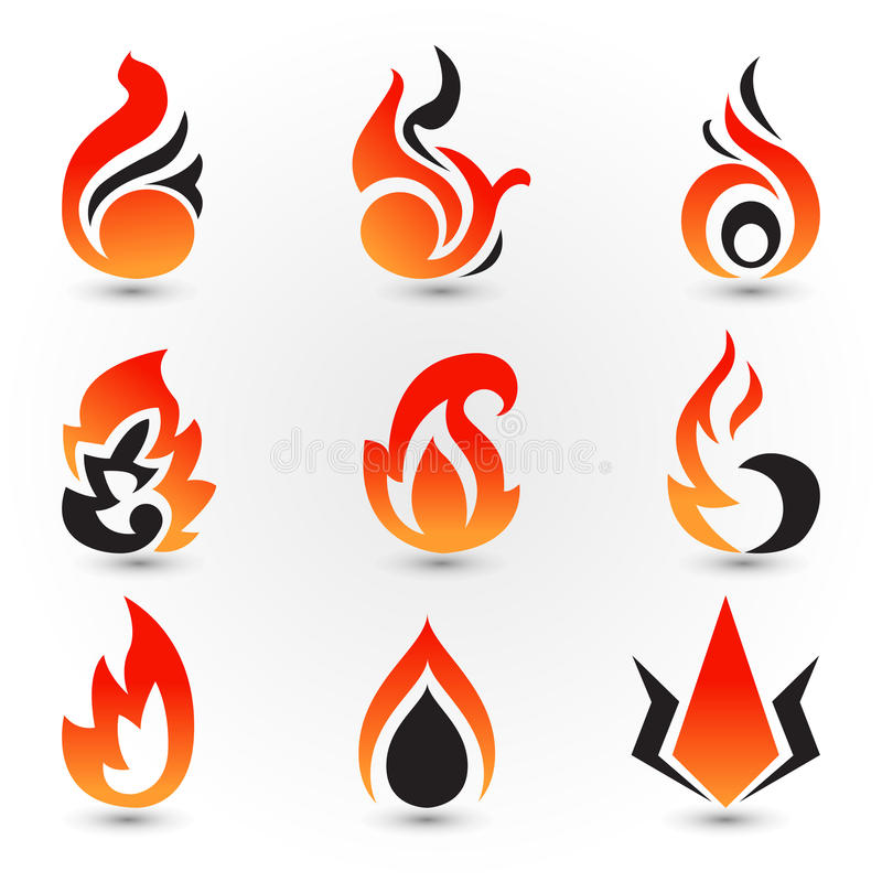 Dunkles Feuer stock abbildung